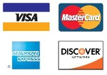 WE ACCEPT VISA/MASTERCARD, DISCOVER & AMERICAN EXPRESS ON PURCHASES OF $300 OR MORE        .